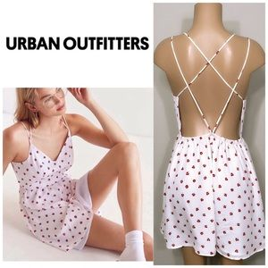 New. Urban Outfitters white & red floral dress.
